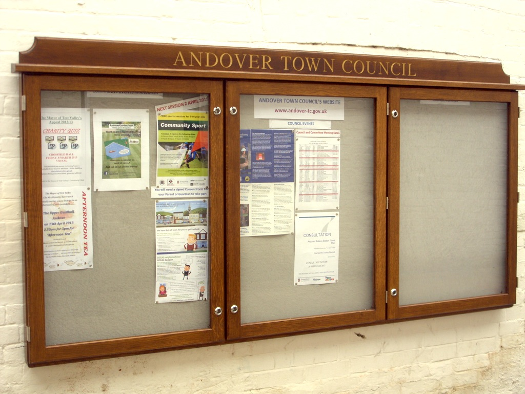 Andover Town Council Notice Board (copyright Barbara Long)